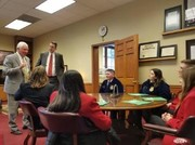 Students meeting with Senator Sater