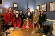 Students with State Treasurer Scott Fitzpatrick